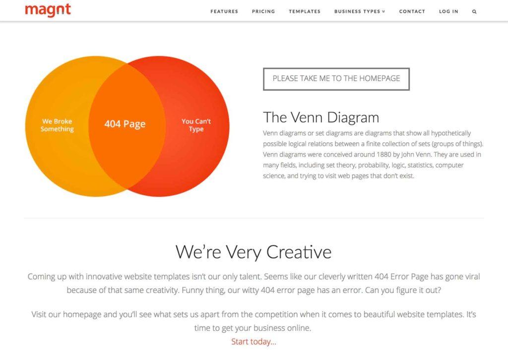 留有团队联系方式的404界面